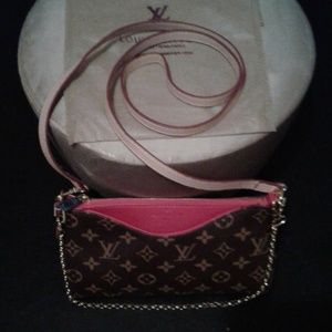 Handbags - L V Pallas Noir Clutch Red